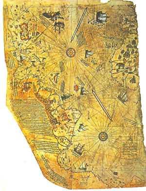 Карта Пири Рейса 1513 Г